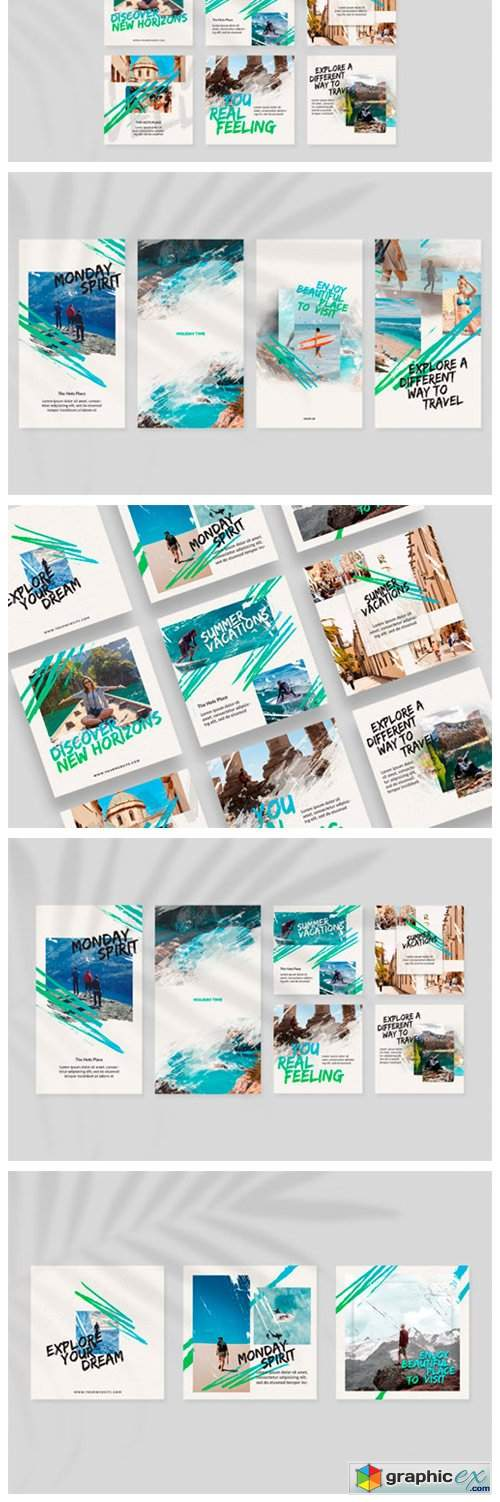 Travel Time Instagram Templates