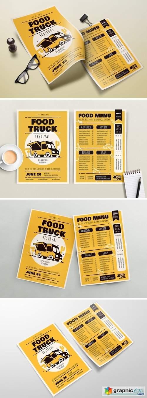 Food Truck Festival – Menu Template