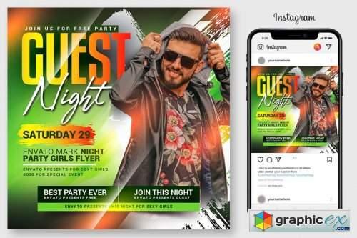 Guest Dj Night Flyer Template 4546976