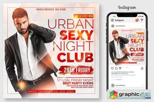 Urban Sexy Club Party Flyer