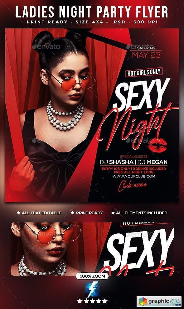 Ladies Night Party Flyer 25606440