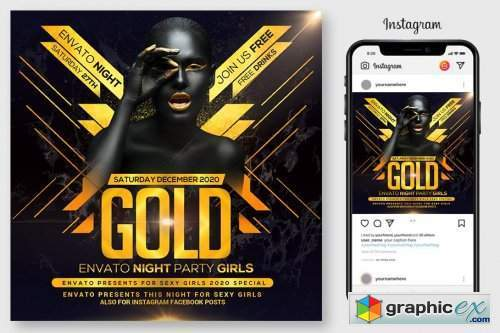 Gold Night Flyer
