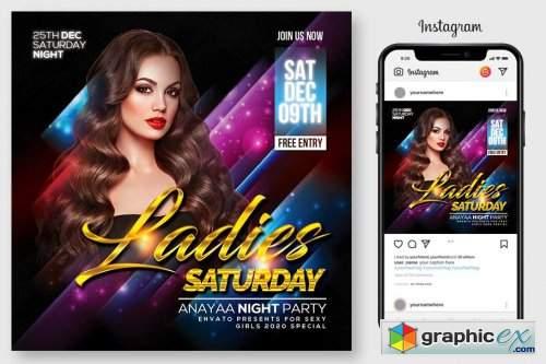 Ladies Night Flyer Template 4564937