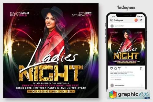Ladies Night Flyer 4564924