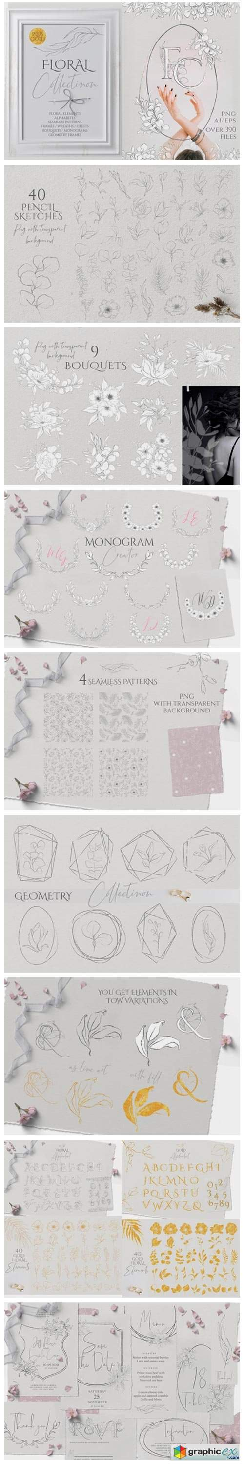 Floral Sketch Collection