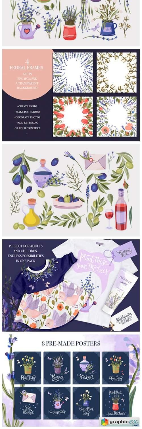 Provence Hand-drawn Bundle