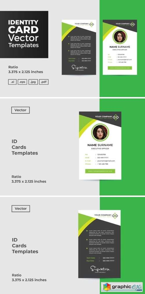 ID Card Vector Template