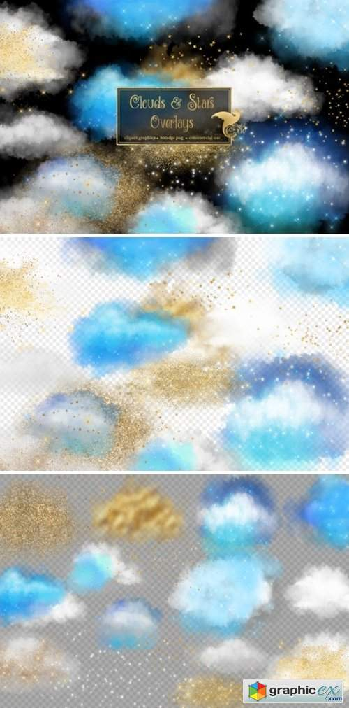 Clouds and Stars Overlays