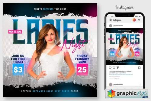Ladies Night Flyer 4564902