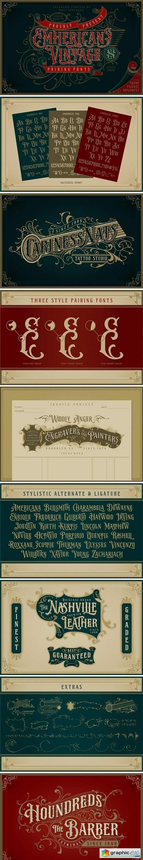 NS Emnhericans Vintage Pairing Fonts