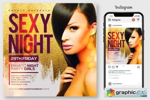 Ladies NIght Flyer Template 4192517