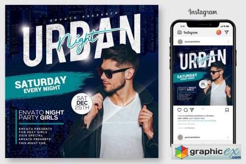 Urban Nights Flyer Template