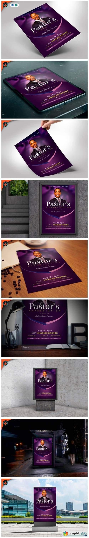 Lavender Pastor Appreciation Flyer