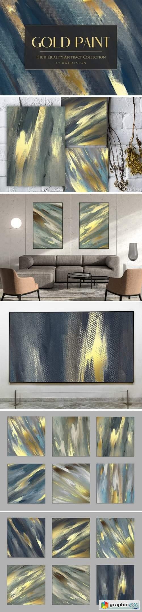 Gold Paint Backgrounds