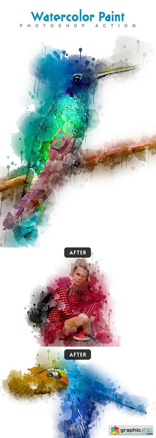 Watercolor Paint Photoshop Action
