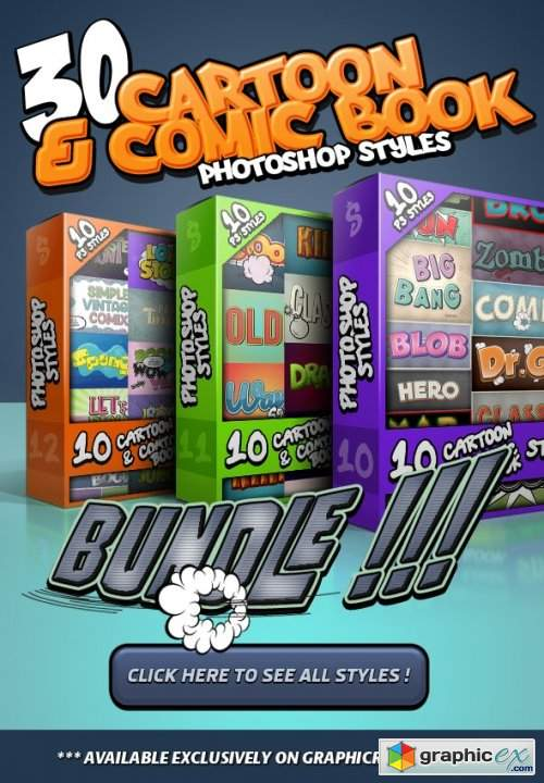 Cartoon and Comic Book Styles Bundle 4