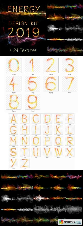Energy Design Kit Abstract Wave Alphabet