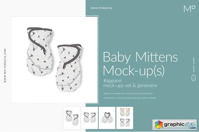 Baby Mittens Mock-ups Set
