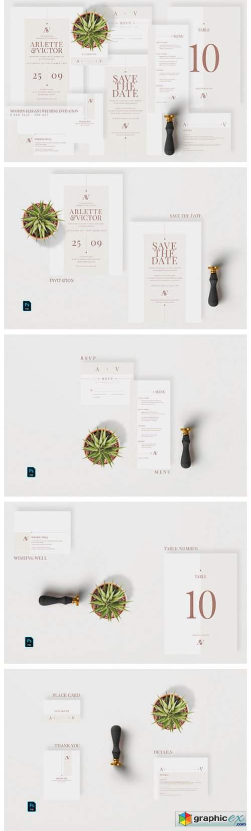 Modern Elegant Wedding Invitation