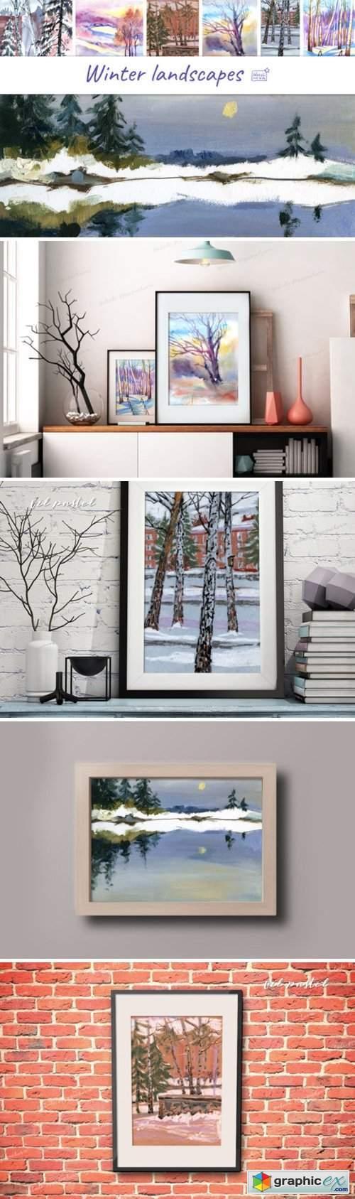 7 Digital Winter Landscapes