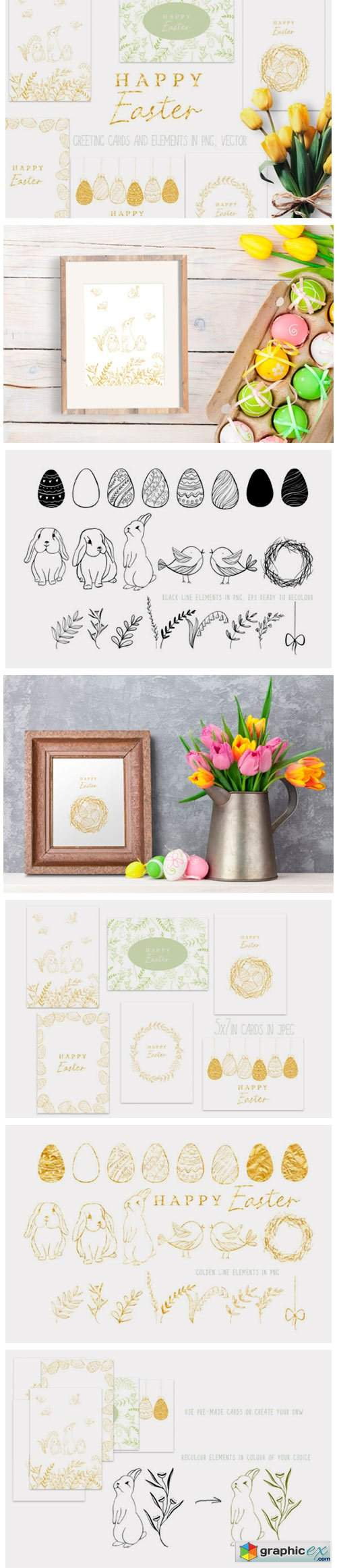 Happy Easter Graphic Set