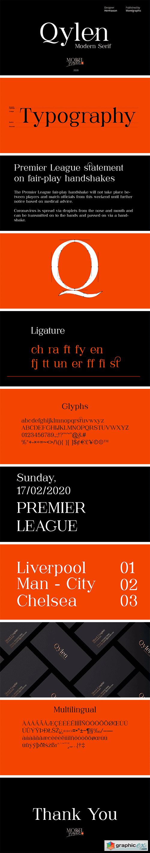 Qylen Typeface