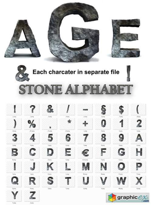 Rocky Letters, Stone Alphabet Numbers