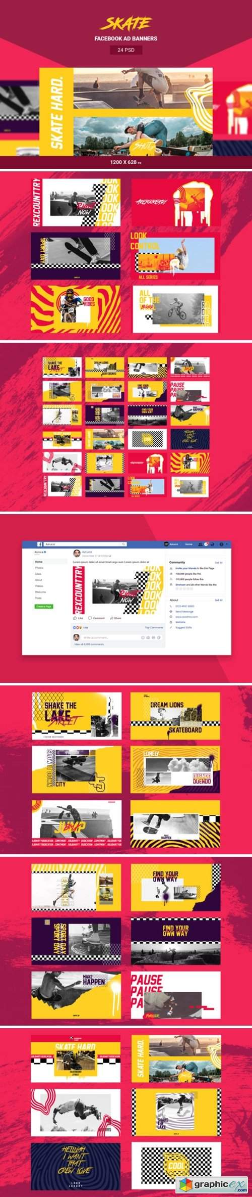 Skate Facebook Ad Banners
