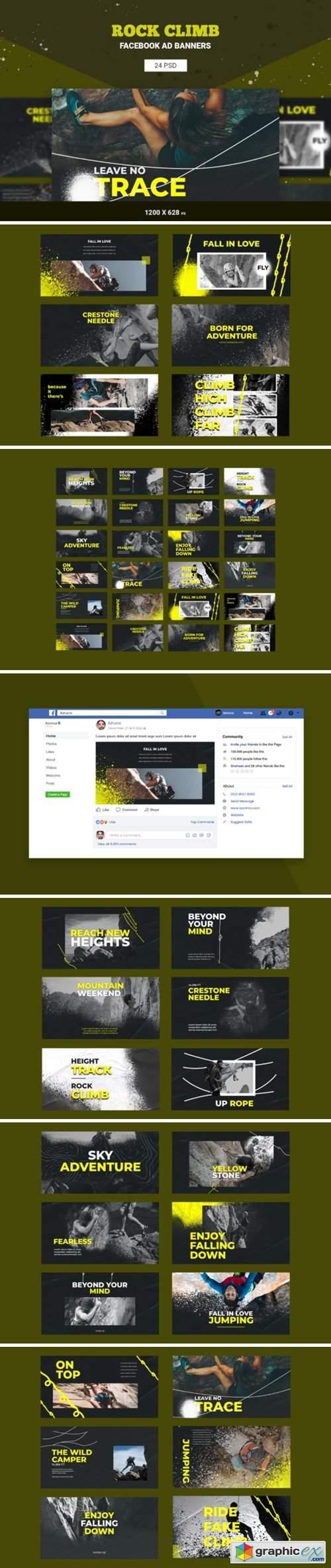 Rock Climb Facebook Ad Banners