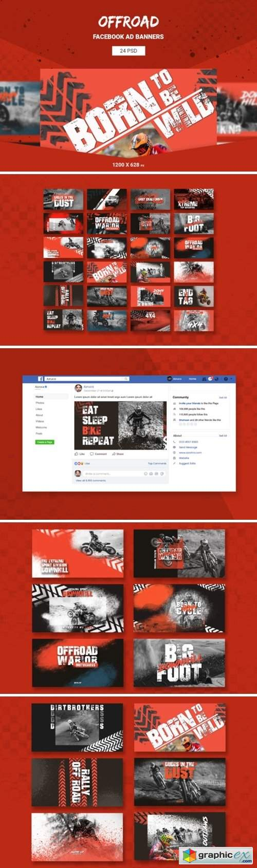 Offroad Facebook Ad Banners