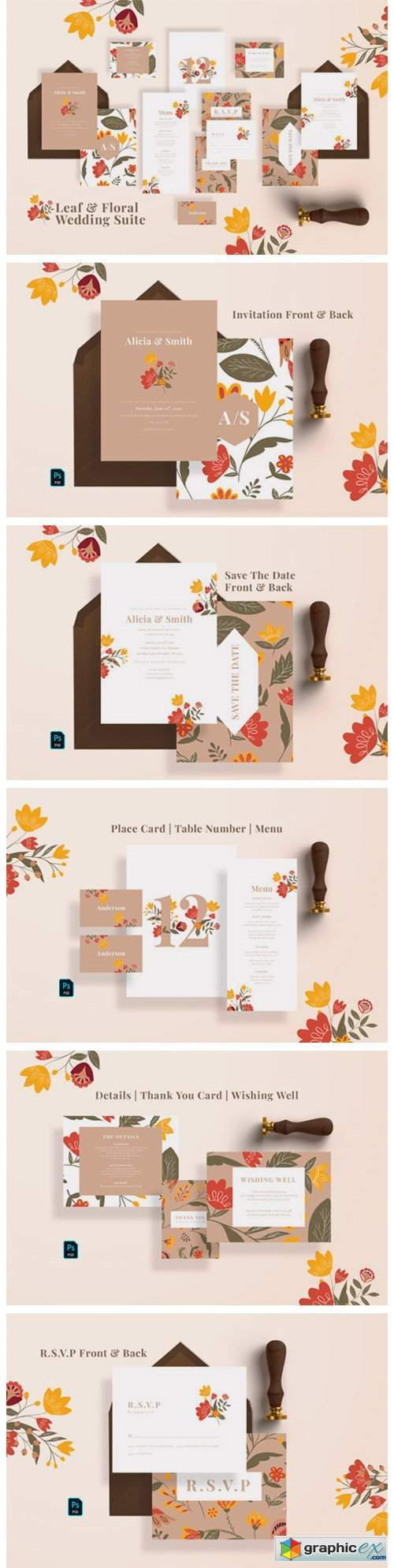 Leaf & Floral Wedding Suite