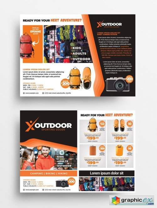 Orange and Brown Flyer Layout