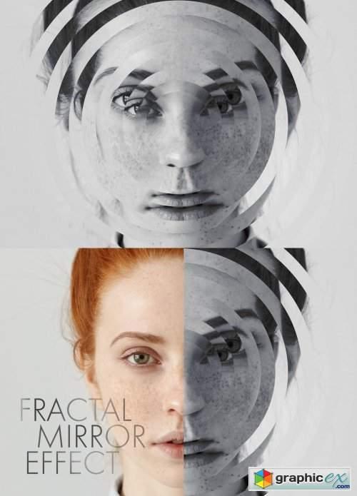 Photo Fractal Mirror Effect Mockup
