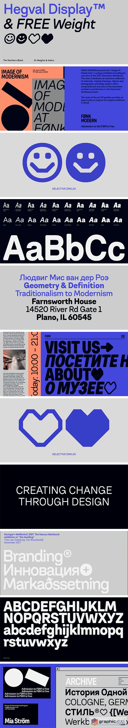 Hegval Display Font Family