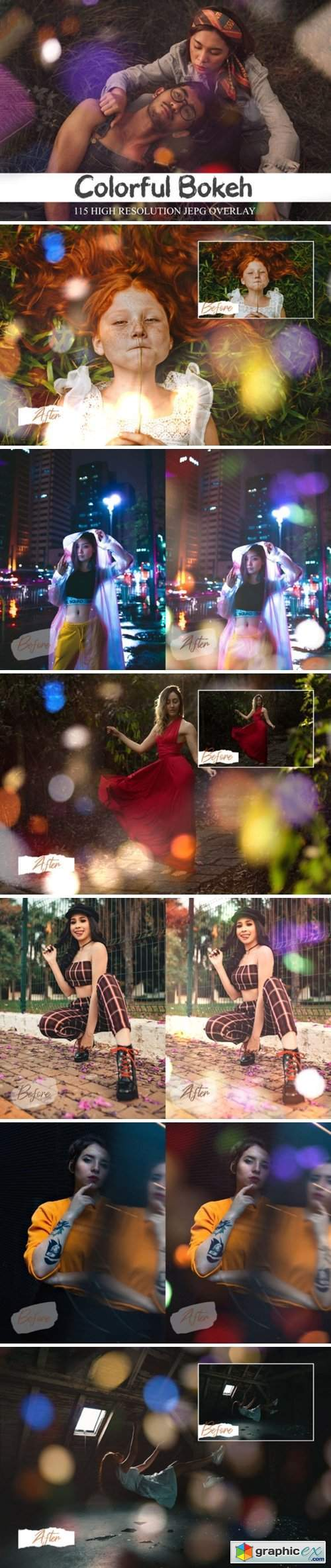 115 Colorful Overlays Bokeh