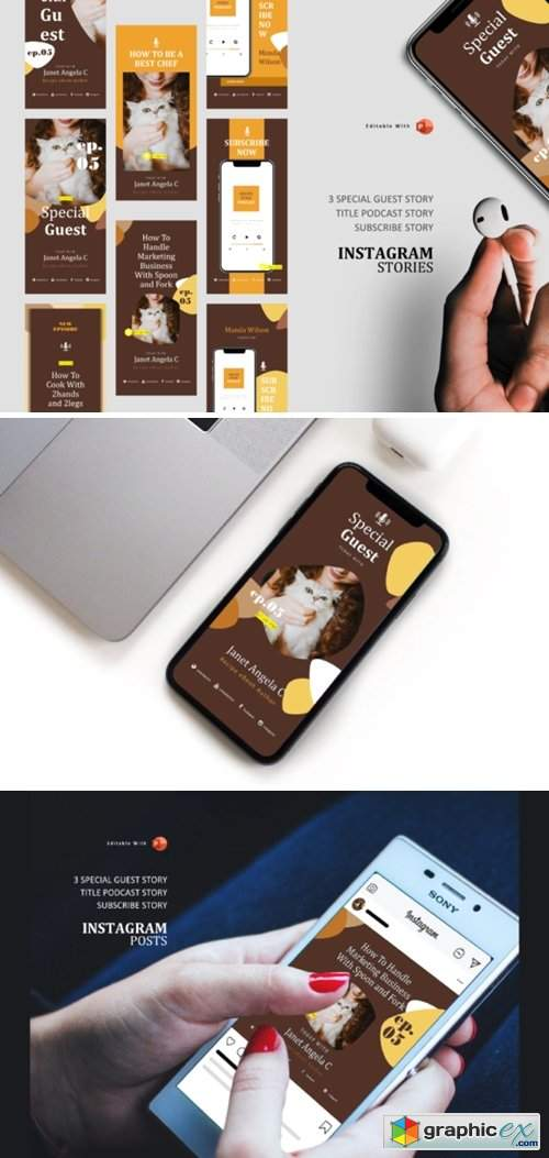 Podcast Instagram Stories Post Template 3706837