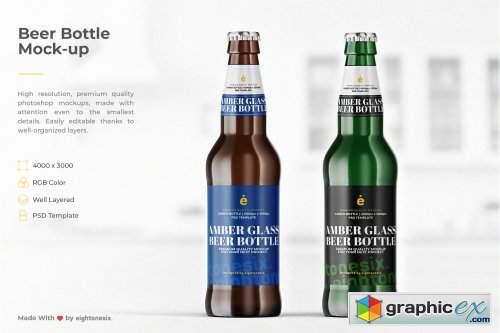 Beer Bottle Mock-Up Template