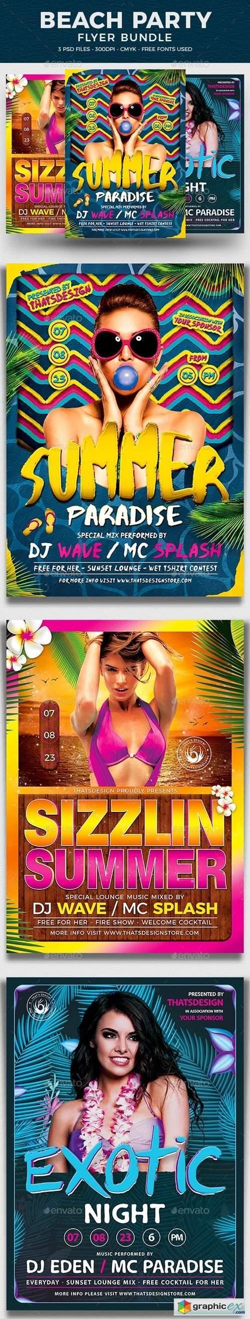 Beach Party Flyer Bundle V3