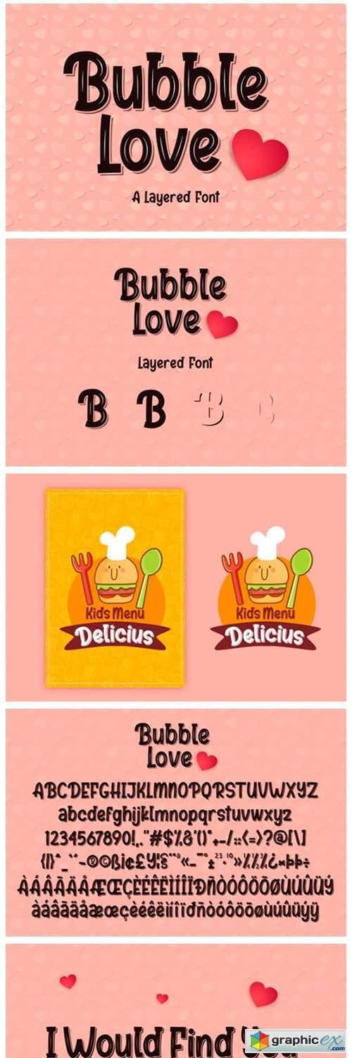 Bubble Love Font