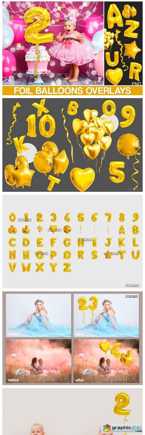 Foil Number Balloons Alphabet Photoshop