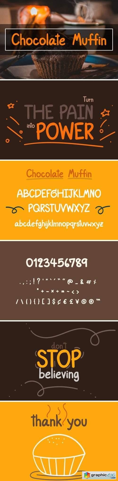 Chocolate Muffin Font