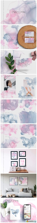 Prism Pink Ink Textures