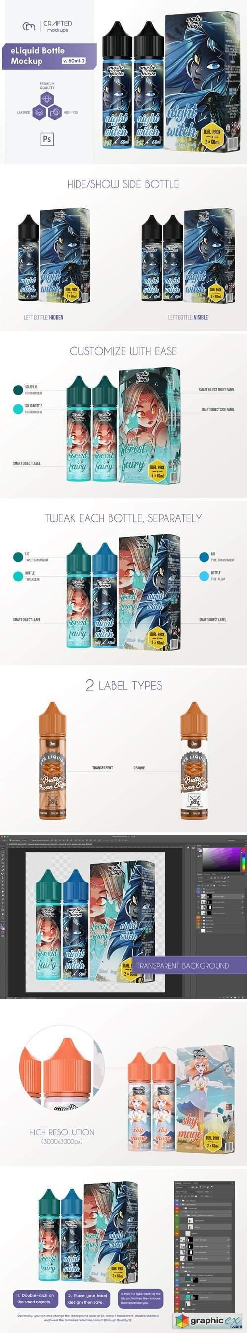 eLiquid Bottle Mockup v. 60ml-D