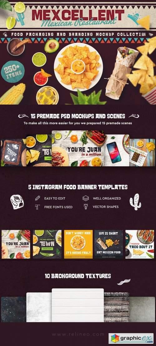 Mexican Food Scene & Mock-up Creator