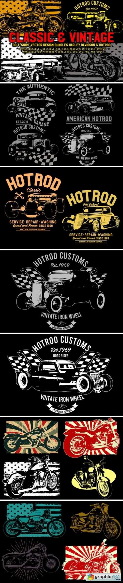 Vintage Harley & Hotrod Bundle Pack