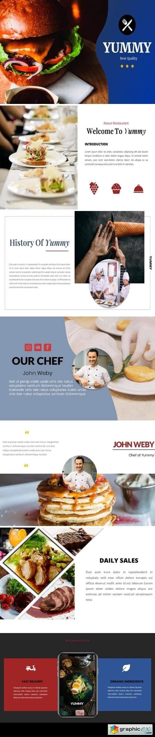 Yummy - Restaurant Powerpoint Template
