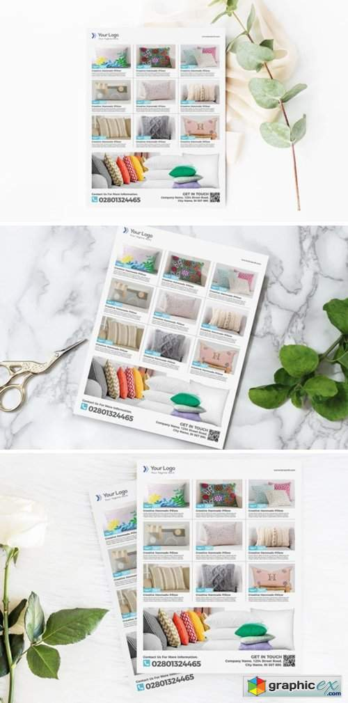 Pillow Product Flyer Promotion Template