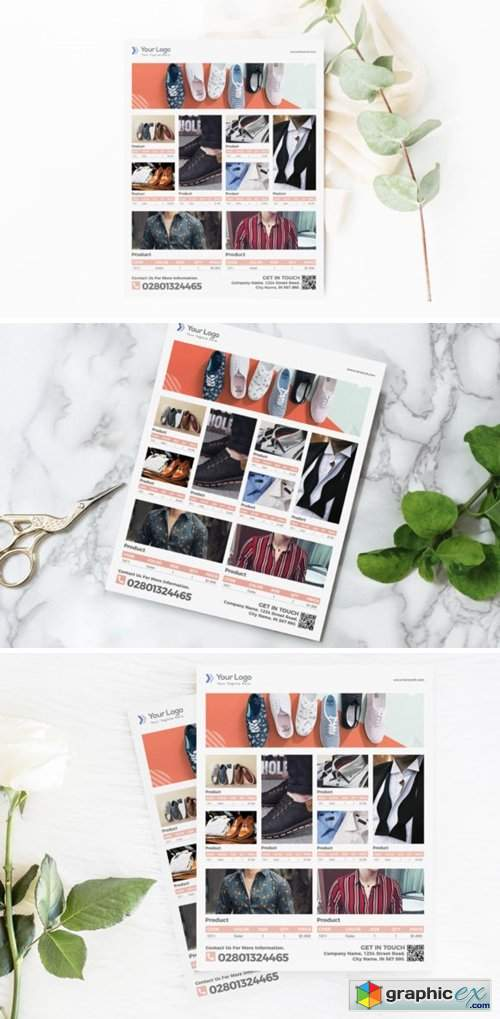 Fashion Product Flyer Template for Sale 3777582