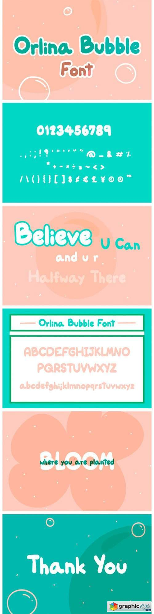Orlina Bubble Font