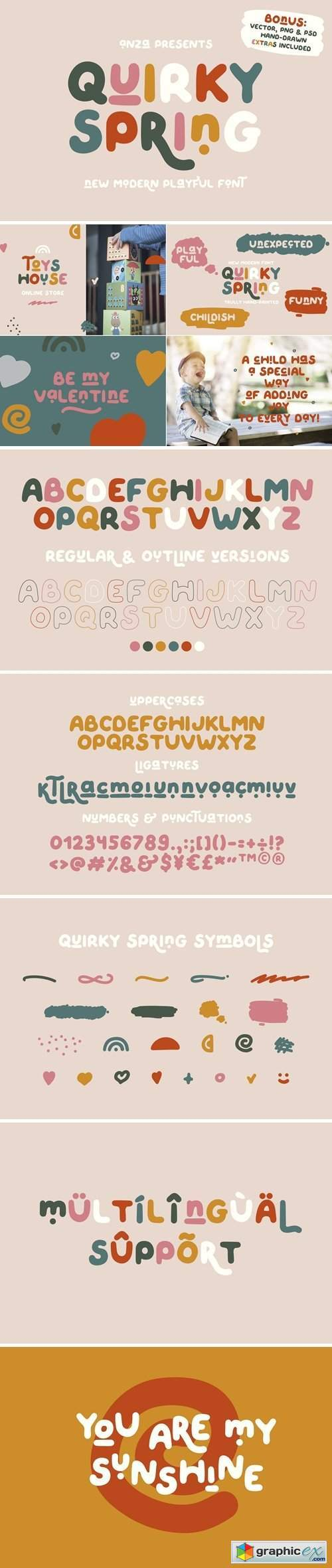 QUIRKY SPRING Playful Font Family